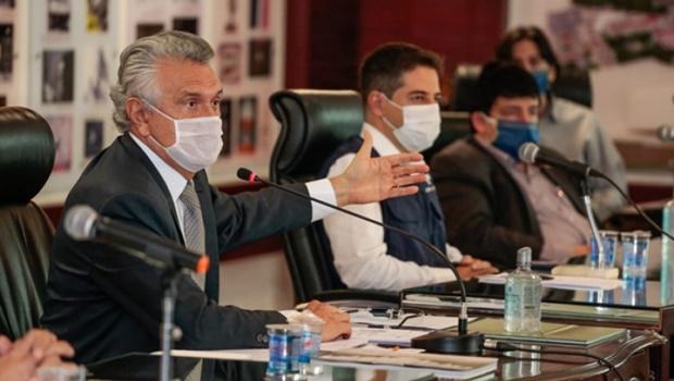 Representantes do setor produtivo alinham discurso com governador Caiado sobre isolamento intermitente