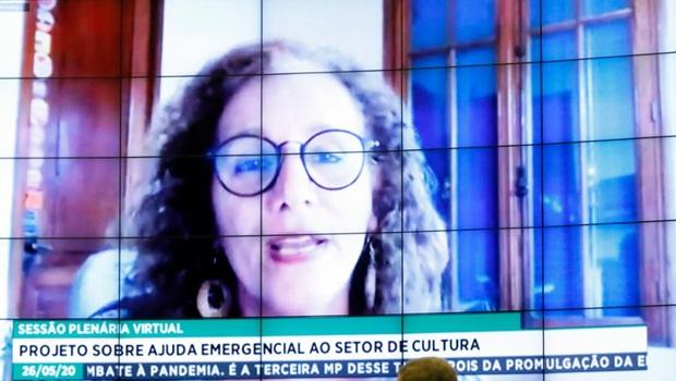 Jandira-Feghali-Lei-Aldir-Blanc-Foto-Maryanna-Oliveira-Câmara-dos-Deputados