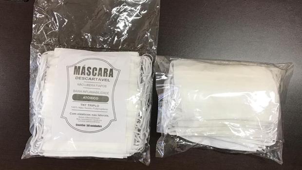 Sem qualidade, máscaras fornecidas para Câmara de Goiânia são devolvidas
