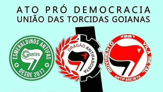 Torcidas organizadas se reúnem para ato pró-democracia em Goiânia