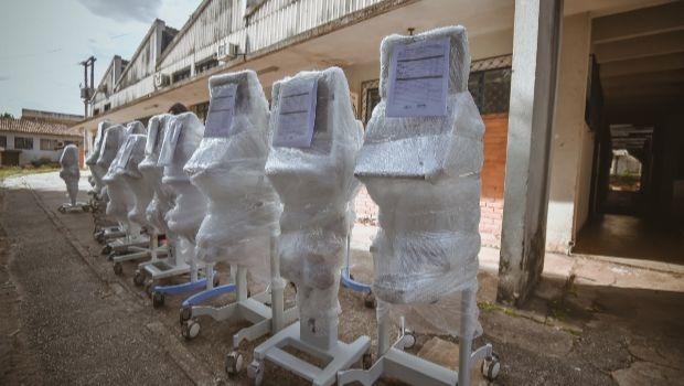Governo de Goiás recebe 18 ventiladores mecânicos recuperados
