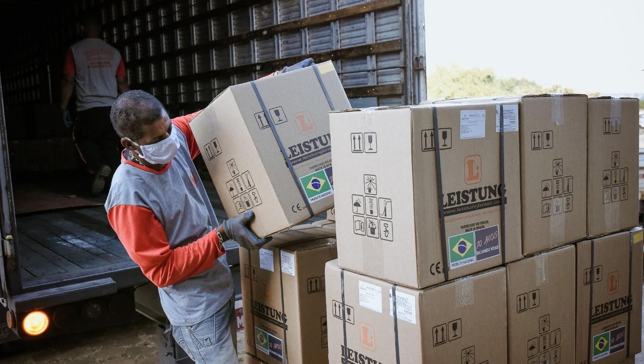 Novos respiradores adquiridos pelo governo do estado fortalecem a estruturação de leitos de UTI