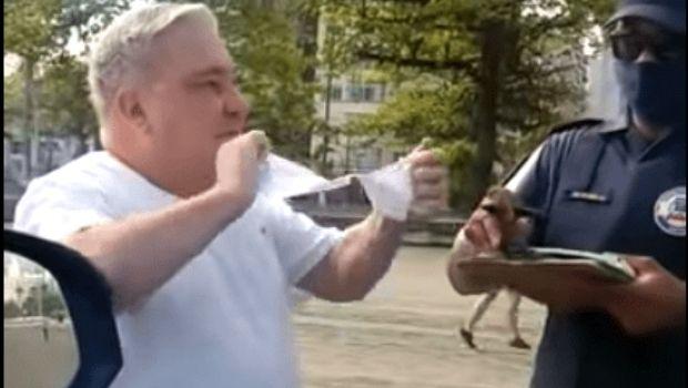 CNJ decide pelo afastamento de desembargador que rasgou multa por não usar máscara, em Santos