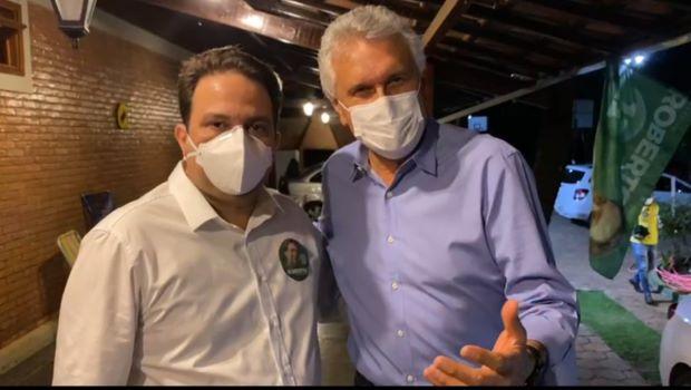 Juntos Roberto Naves e Caiado comemoram a vitória do Pepista em Anápolis