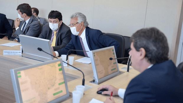 Em encontro com Ronaldo Caiado, Ministro da Infraestrutura detalha malha ferroviária que atenderá Centro-Oeste