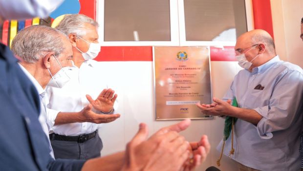 Inauguração de Cmei reúne em Goiânia responsáveis pela educação nos níveis Federal, Estadual e Municipal