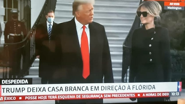 Donald Trump deixa a Casa Branca