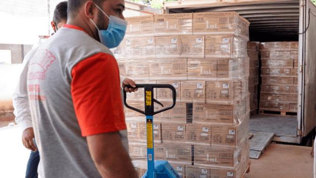 Secretaria Estadual de Saúde recebe mais 971 mil kits de seringas