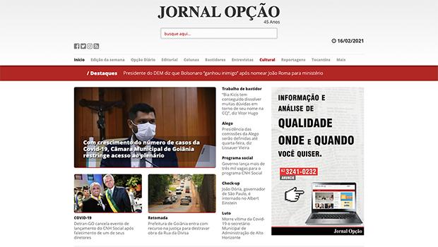 Similar Web Pro: Jornal Opção tem mais acessos do que O Popular