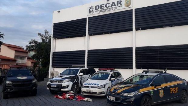 Em operação conjunta, PCGO prende dupla com carga de cocaína pura avaliada em quase R$ 7 milhões