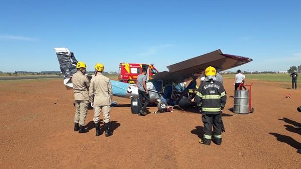 Aluno realiza manobra errada e precisa fazer pouso de emergência durante voo de instrução, em Anápolis
