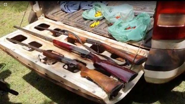 PRF e Semad apreendem armas de fogo e material de pesca predatória durante fiscalização no Vale do Araguaia