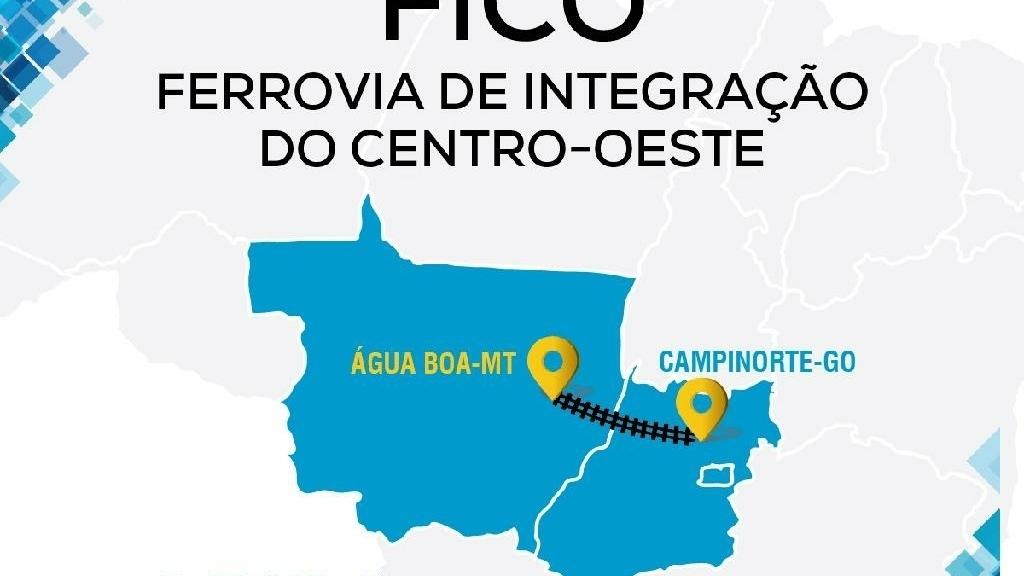 Ferrovia integrará Goiás e Mato Grosso