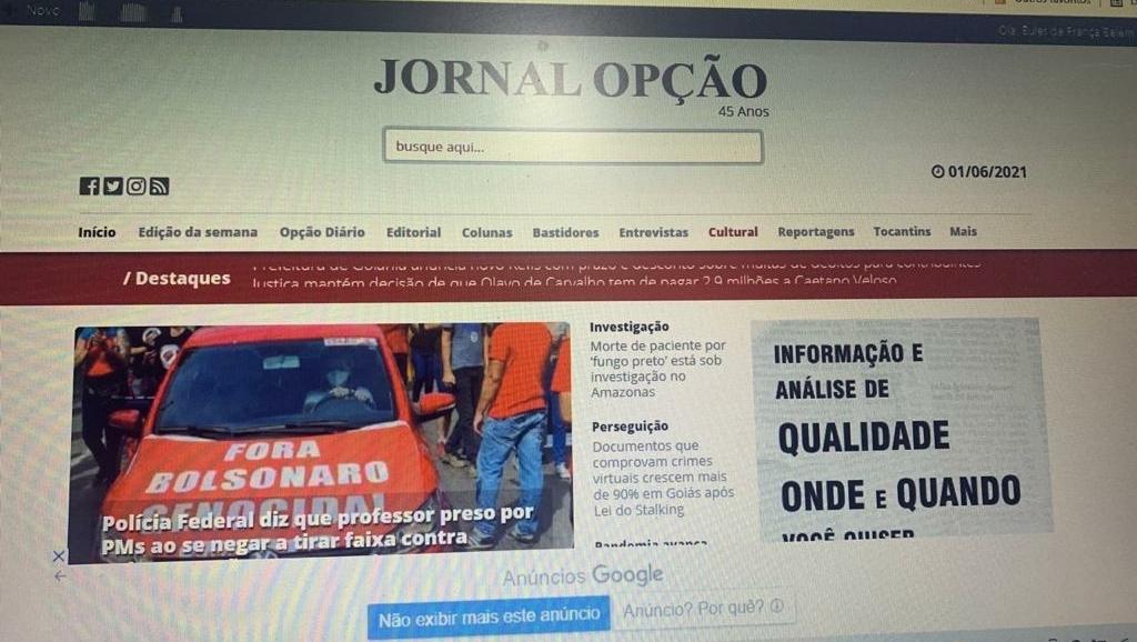 15 sites jornalísticos mais acessados de Goiás em maio. O Popular segue atrás do Jornal Opção