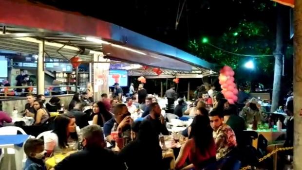 Em Aparecida, mais de 900 pessoas sem máscara foram multadas em festas clandestinas neste fim de semana