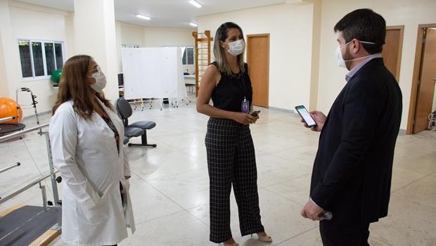 Vistoria em centro de reabilitação do Estado e constata insuficiência de equipamentos e profissionais