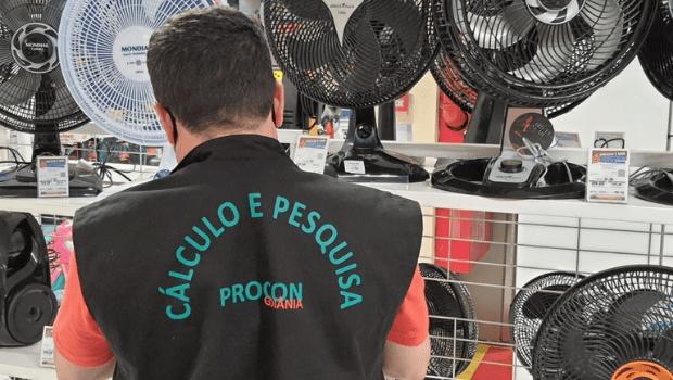 Aparelhos climatizadores apresentam variação de preço de 102%, em levantamento do Procon Goiânia