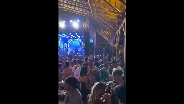 Vídeo: festa em Caldas Novas mostra aglomeração muito além do limite