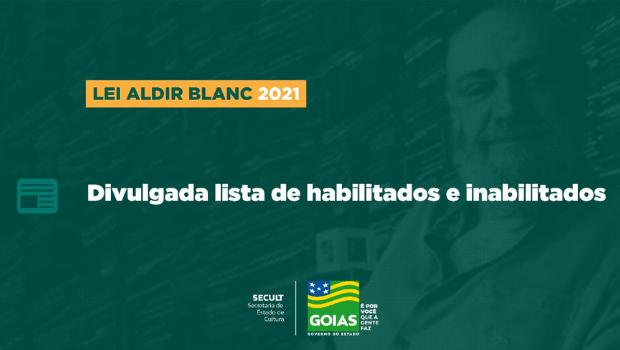 Secult divulga lista de habilitados em editais da Lei Aldir Blanc