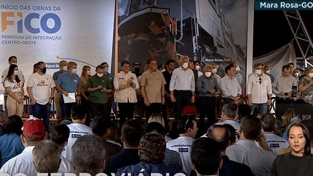 Com a presença de Bolsonaro e Caiado, governo federal inicia em Goiás a construção da Fico