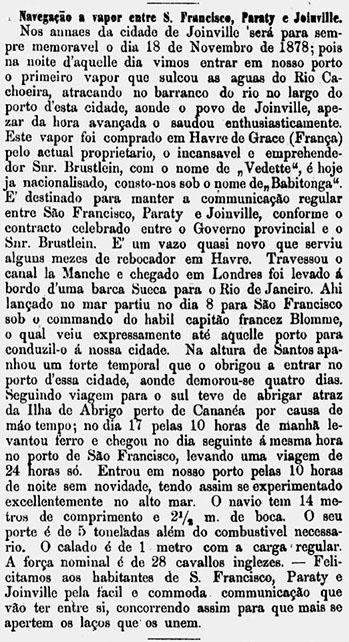 Gazeta-de-Joinville-19-11-1878-Navegacao-a-vapor-Primeiro-vapor-em-Joinville-Jornal-Retro