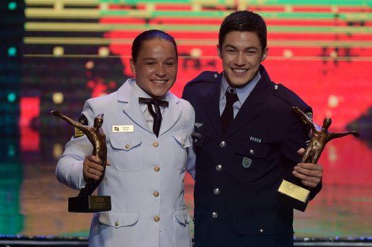 Resultado de imagem para Bia Ferreira e Arthur Nory conquistam Prêmio Brasil Olímpico