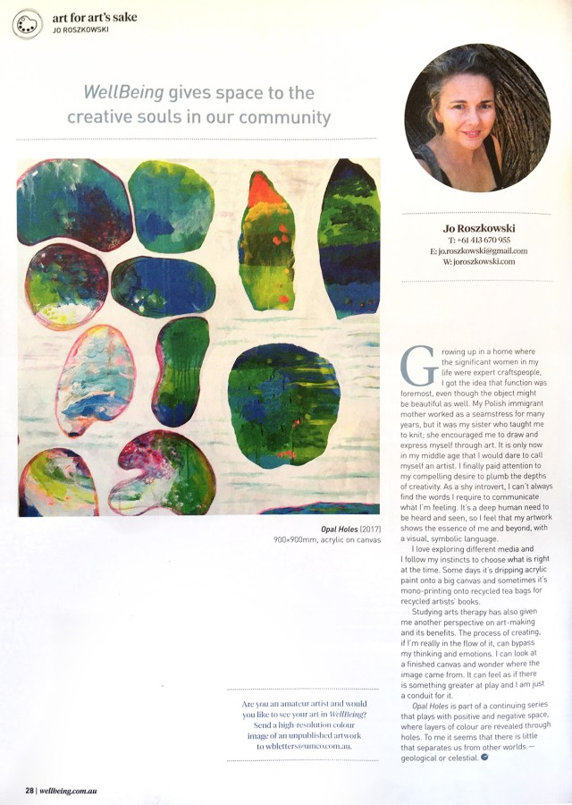 Wellbeing magazine article