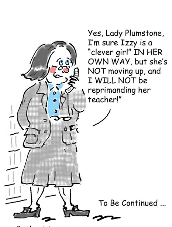 Headteacher telling Lady Plumstone her daughter is not gifted and talented