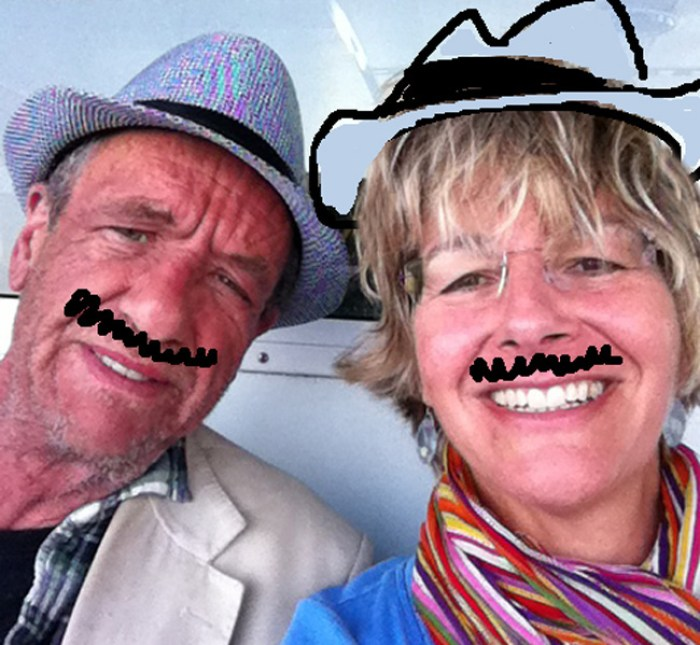 Arthur Smith & Jo Sandelson in Skyros, Greece