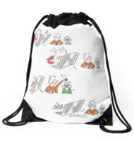 Rabbit hole Drawstring bag