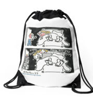 Sex and the blogger Drawstring bag