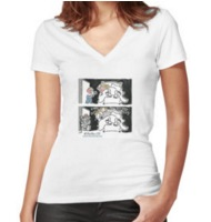 Sex and the blogger Fitted V-neck T-shirt