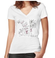 Wedding cake Fitted V-neck T-shirt