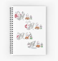 Rabbit hole Spiral notebook