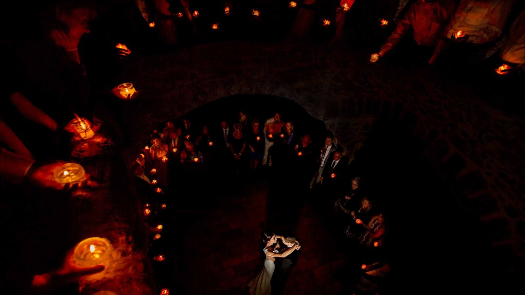 Bride and Groom dance in France