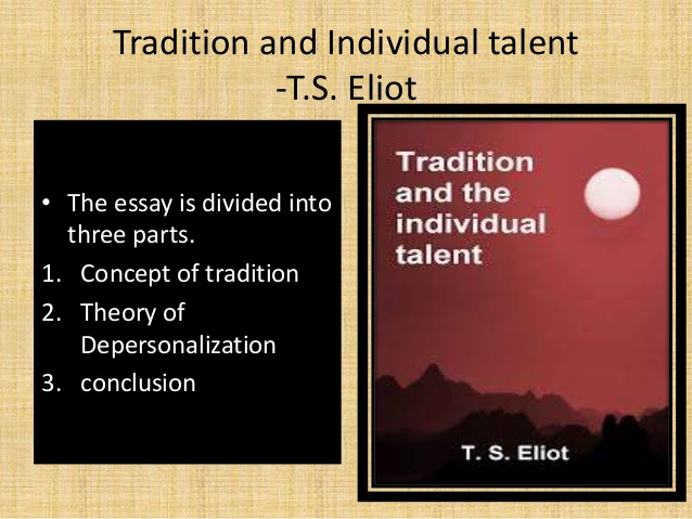 tradition and the individual talent essay