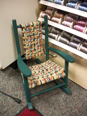 FabricWeaveRockingChair