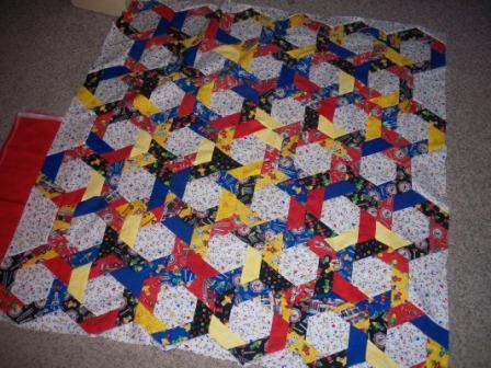 HexagonQuiltforBrady