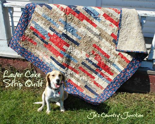 Layer Cake Strip Quilt