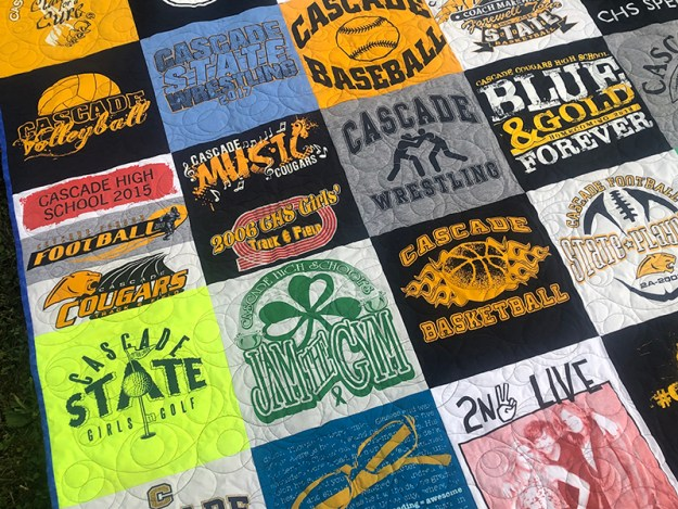 close up t shirt quilt easy how to make