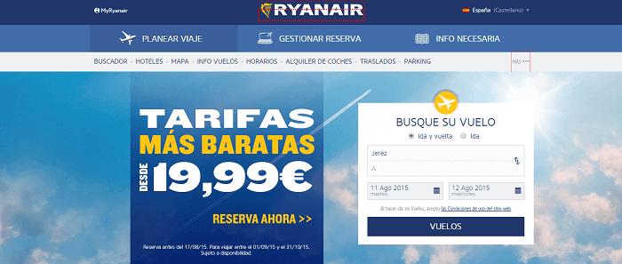 Ejemplos reales de CTA - Ryanair