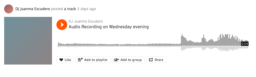 Compartir podcasts en Soundcloud