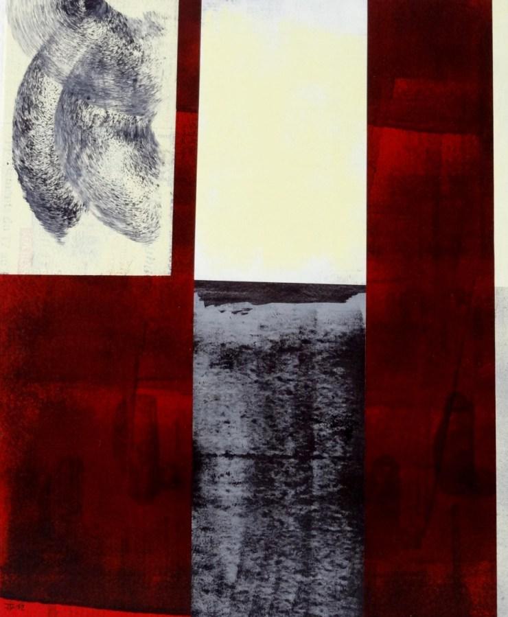 Impressions V, 2012, Acrylique, Collage sur toile 46x38 cm