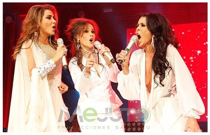 Dulce, Manoella Torres y Maria Conchita Alonso. Mejuto Producciones. PHOTO Jose Luis Lozano