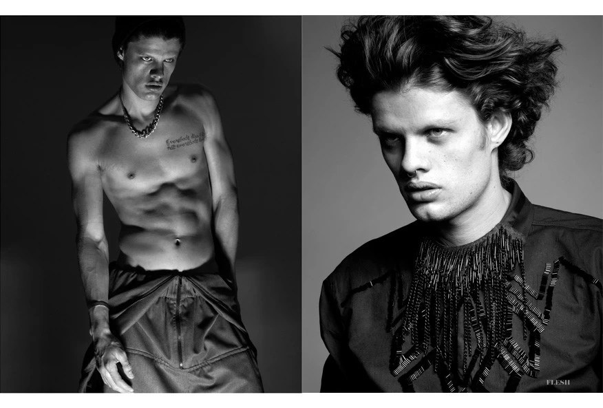 FLESH Magazine Photo • José Luis Lozano, Stylist • Ricci Fuentes, Model • Carlos Contreras - Prototyp3 MODEL Management