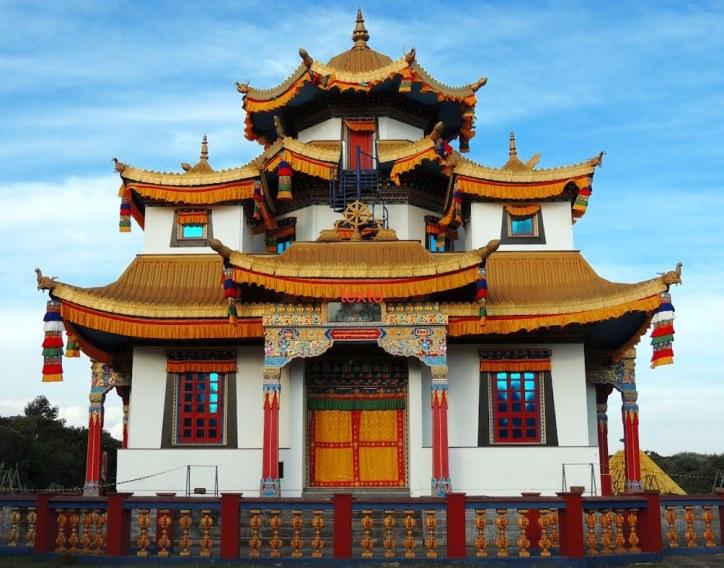 Templo budista en el que se custodia La Campana de La Verdad