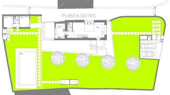 Casa em Infesta, planta do r/c