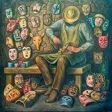 Las siete máscaras. La visión de la terapia gestalt del cuento.