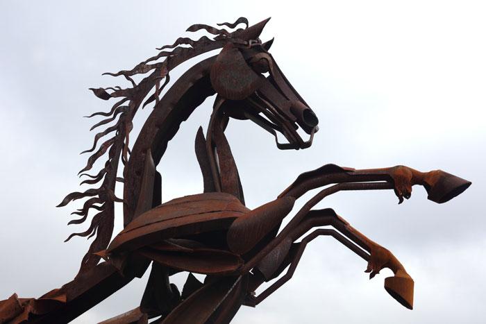 Inca Horse Sculpture Grand Junction