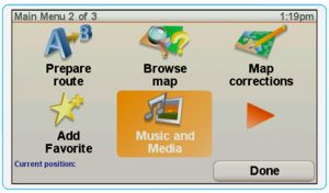 TomTom Music and Media Screen